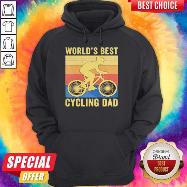 Top World's Best Cycling Dad Vintage Retro Hoodie