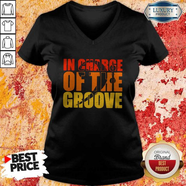 Happy In Charge Of The Groove V-neck