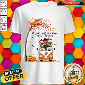 Horror Movie Character It's The Most Wonderful Time Of The Year Shirt