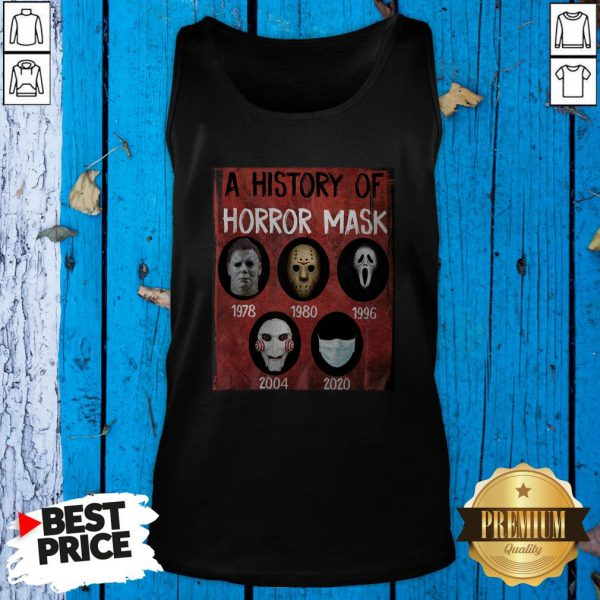 A History Of Horror Mask 1978 2020 Tank Top