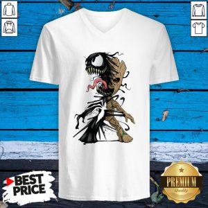 Baby Groot Venom Halloween V-neck