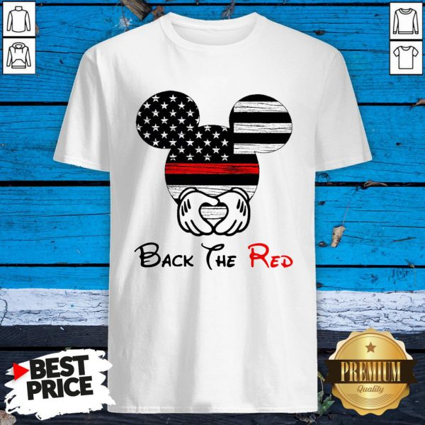 Mickey Mouse Back The Red American Flag Shirt
