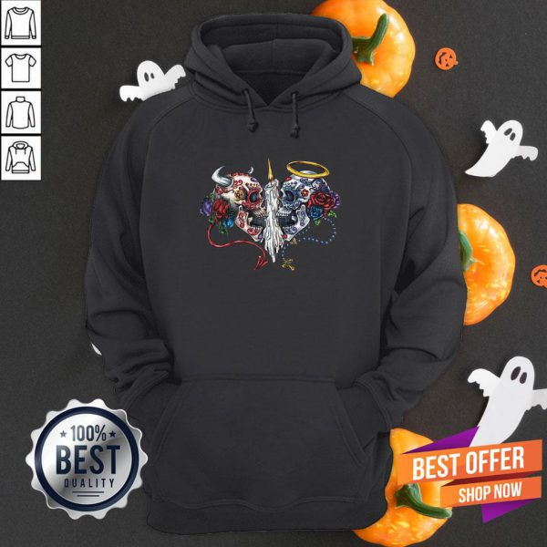 Sacred Day Of Dead Fitted Hoodie