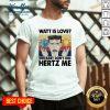 Hot Watt Is Love Baby Don't Hertz Me Vintage Retro V-neck