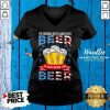 Good I'm Gonna Need Another Beer To Wash Down This Beer American Flag V-neck