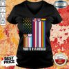 LGBT Proud To Be An American V-neck